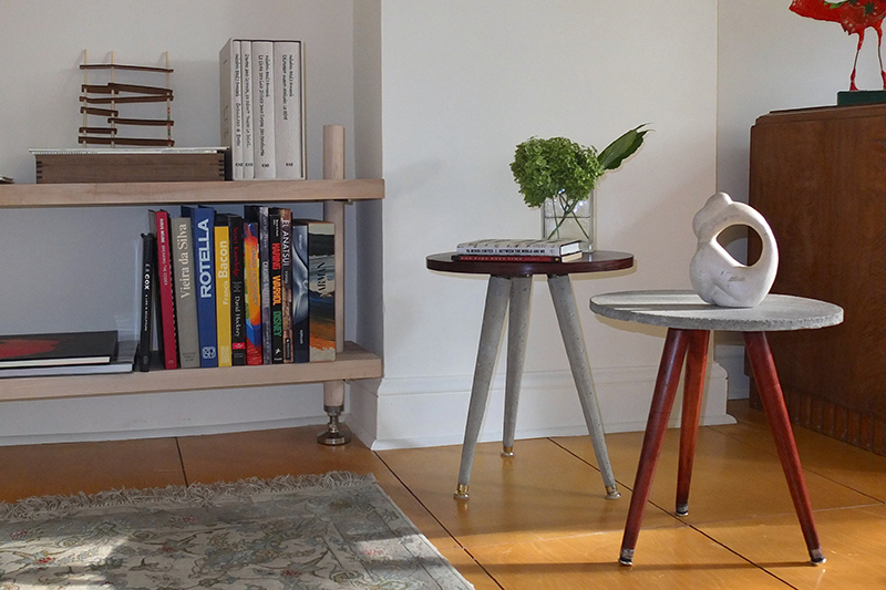 Nesting side-tables, luxurious living room