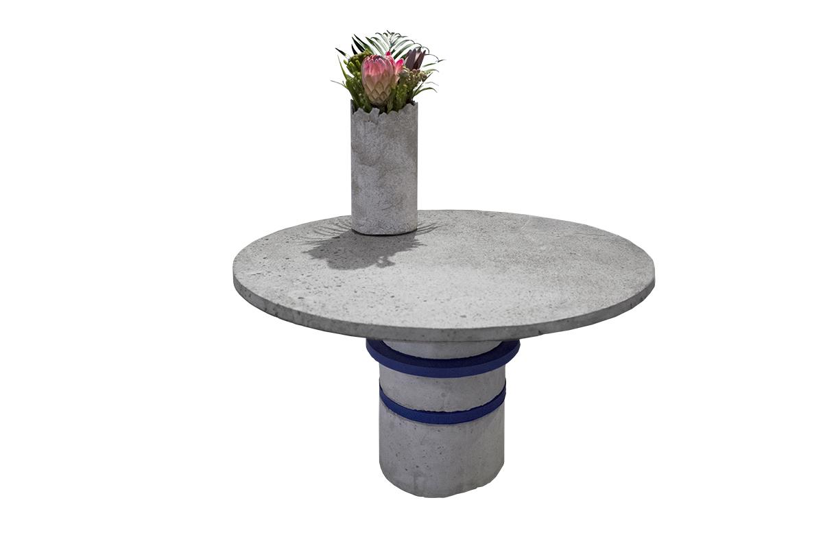 FULO concrete vase on coffee table