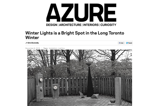 AZURE Magazine - LALAYA Design at Winter Lights Exhibit