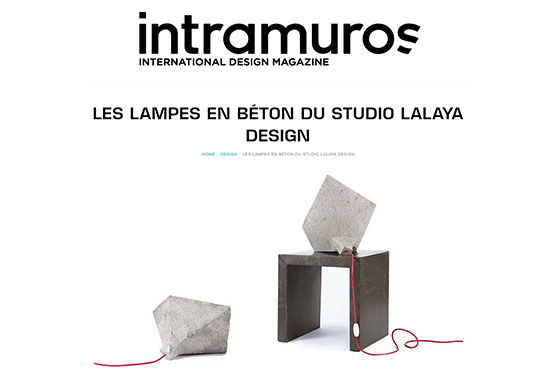 Intramuros - Lampes en beton de LALAYA Design