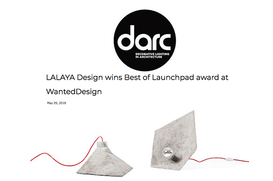 DARC Magazine on LALAYA Design