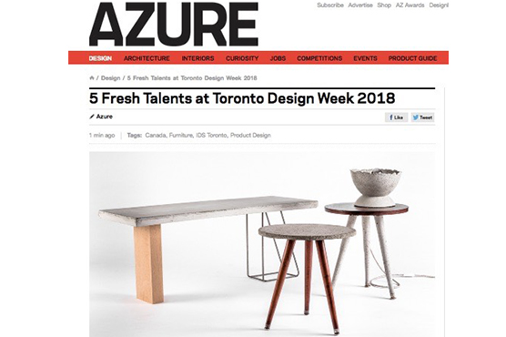 AZURE Magazine selects LALAYA Design as top 5 emerging talents