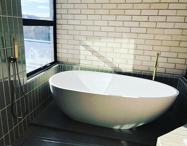 RANGE RD // STUDIO AKA // main bathroom... relaxing with a view! #adelaidearchitect #builtdesign #architecturaldesign #southaustralia #archinspiration #design #australiandesign #localdesign #bathroom #freestandingbath @abiinteriors @pghbricks @smithbuilders06 @aligeers @joshuageers