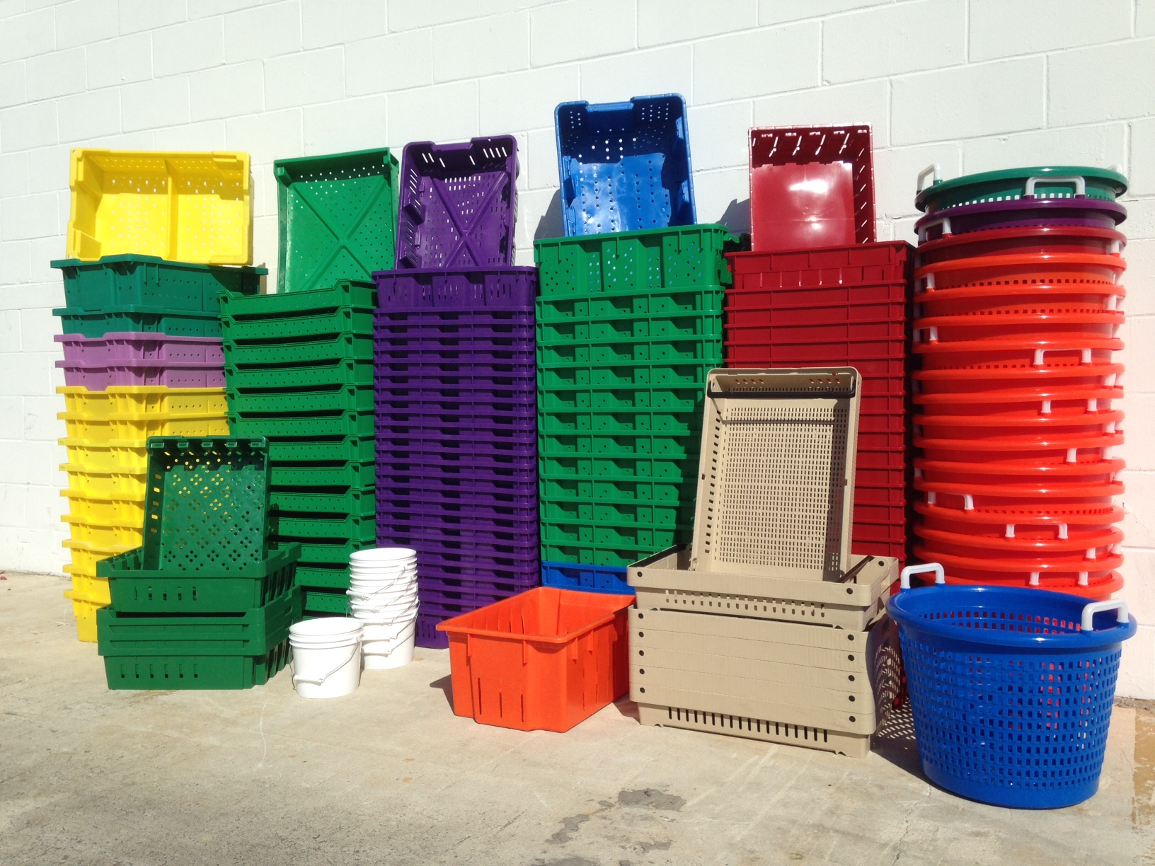 Agricultural Baskets, Lugs, and Bins for Harvest and Transport
