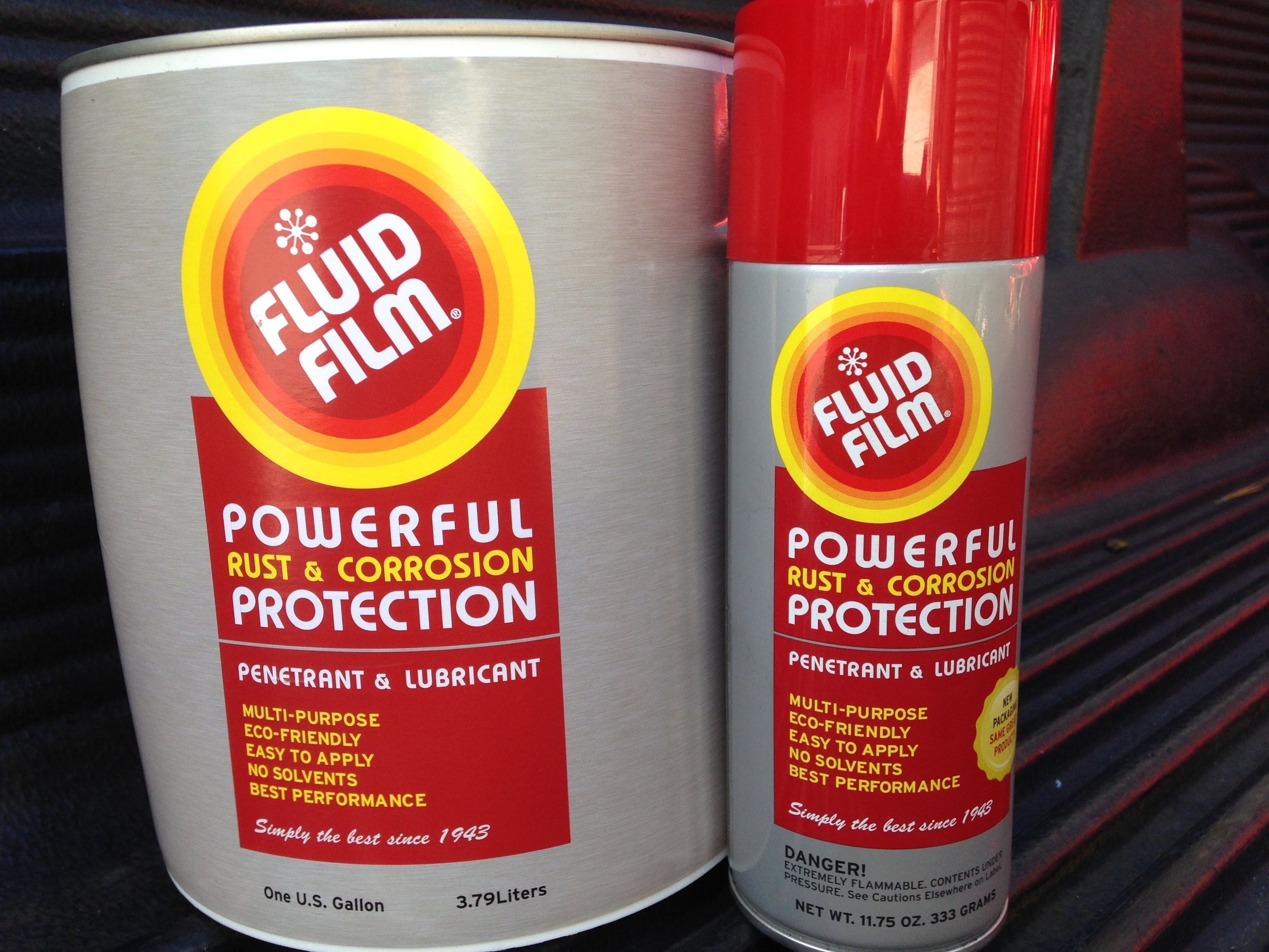 fluid film cans, fluid film, lubricant, eco friendly, rust, powerful, corrosion, protection, penetrant, multi-purpose, eco-friendly, easy apply, no solvents, protects, all metals, non-toxic, hazardous, long lasting, lanolin, factory direct, spray, can, drum, bin, pallet, bulk, gallon, manufacturer rep, drop ship, aerosol, environmental friendly