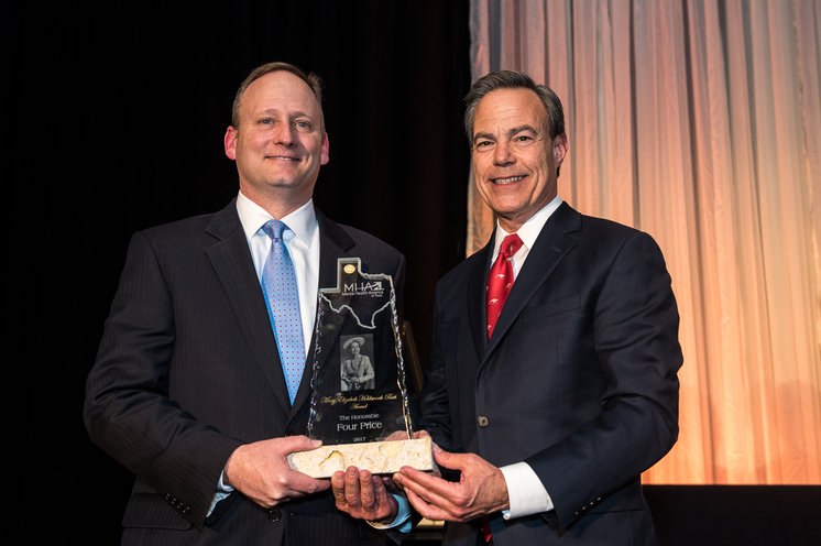 Rep. Four Price (left) with House Speaker Joe Straus  Photo by Mental Health America Texas