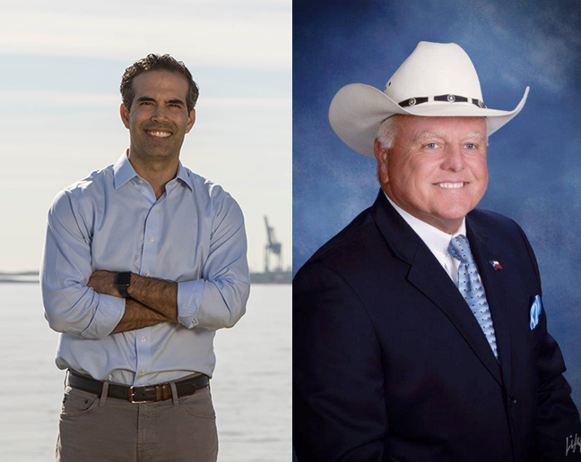 FROM LEFT: Land Commissioner George P. Bush; Agriculture Commissioner Sid Miller  Photos by Campaigns