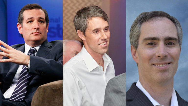 (FROM LEFT) Cruz, O'Rourke, Dikeman  Photos by Campaigns