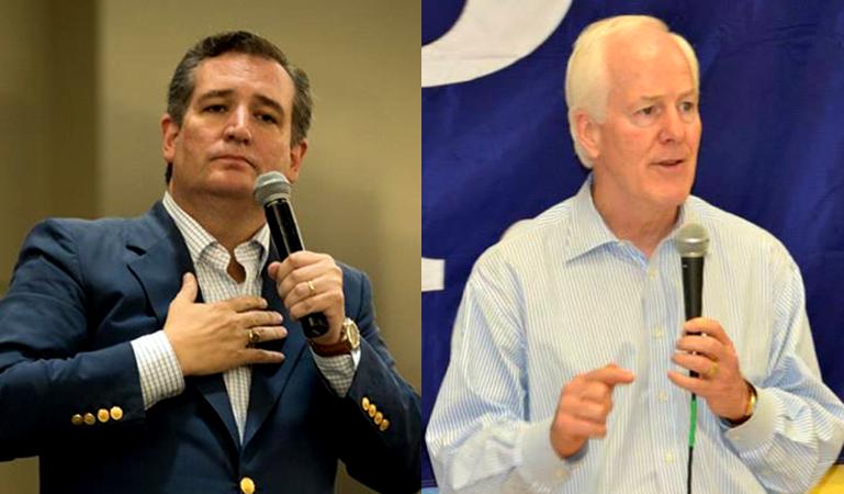 Cruz, Cornyn  Photos by Campaigns