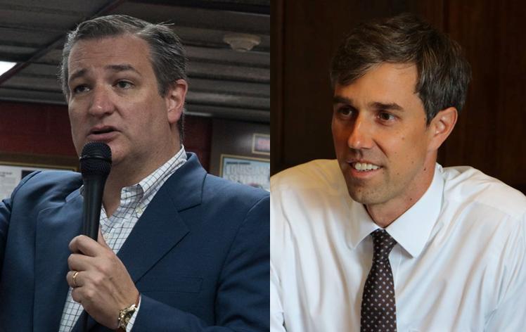 Cruz, O'Rourke  Photos by Campaigns