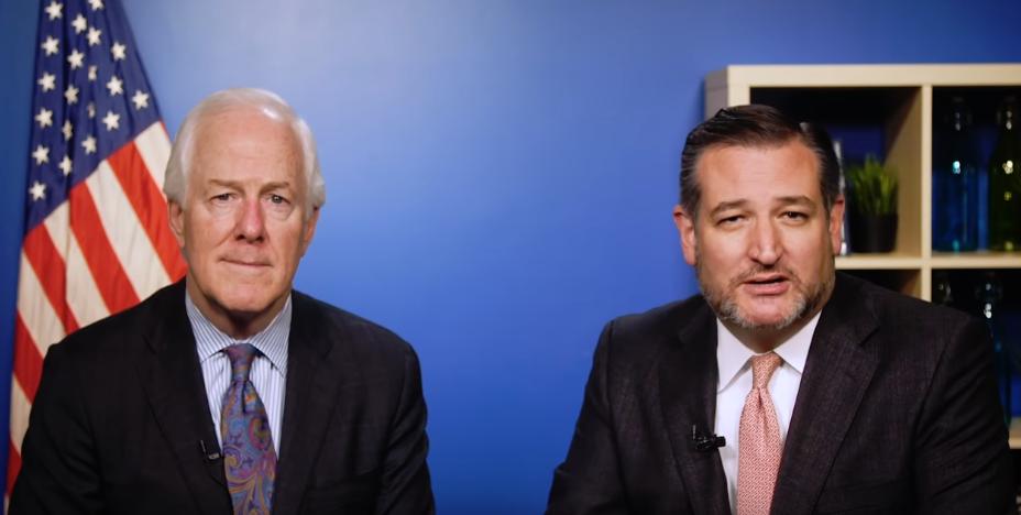 Cornyn (Left) with Senator Ted Cruz/Photo by Cruz Campaign