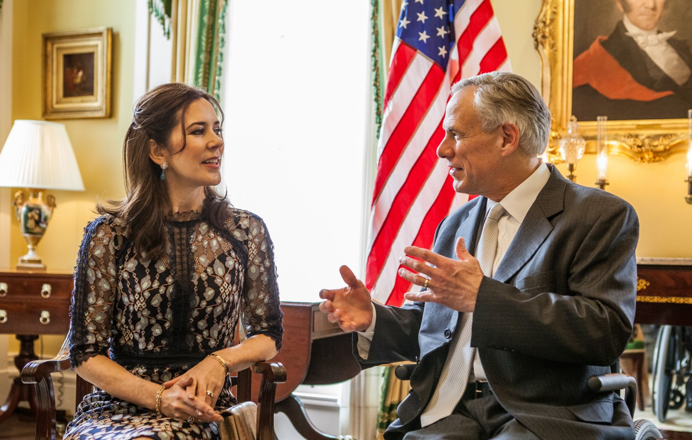 Abbott and Crown Princess of Denmark (LEFT)  Photo by Governor's Office