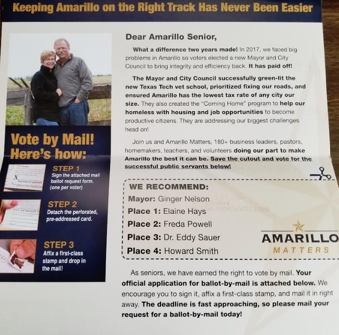 Amarillo Matters Mailer  Photo by Thomas Warren III