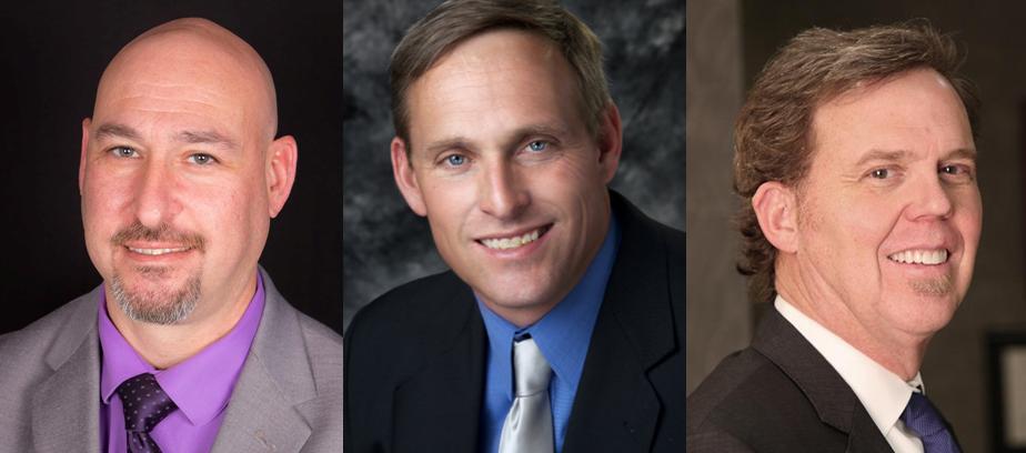 (FROM LEFT): Brad Torch (Challenger), Tom Warren II (Challenger), Eddy Sauer (Incumbent)