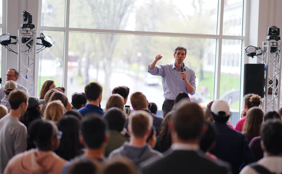O'Rourke speaks to crowd  Photo by O'Rourke Campaign