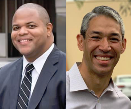 FROM LEFT: Mayor-elect Eric Johnson and Mayor Ron Nirenberg  Photos by Campaigns