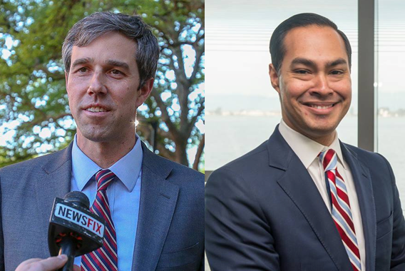 FROM LEFT: O'Rourke, Castro  Photos by Campaigns