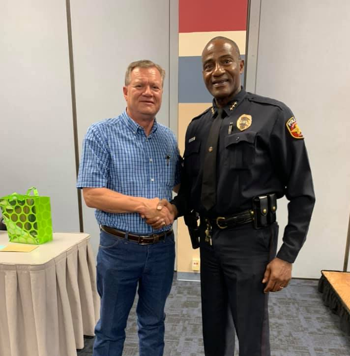Boatler (LEFT) with Chief Ed Drain (RIGHT)  Photo by APD