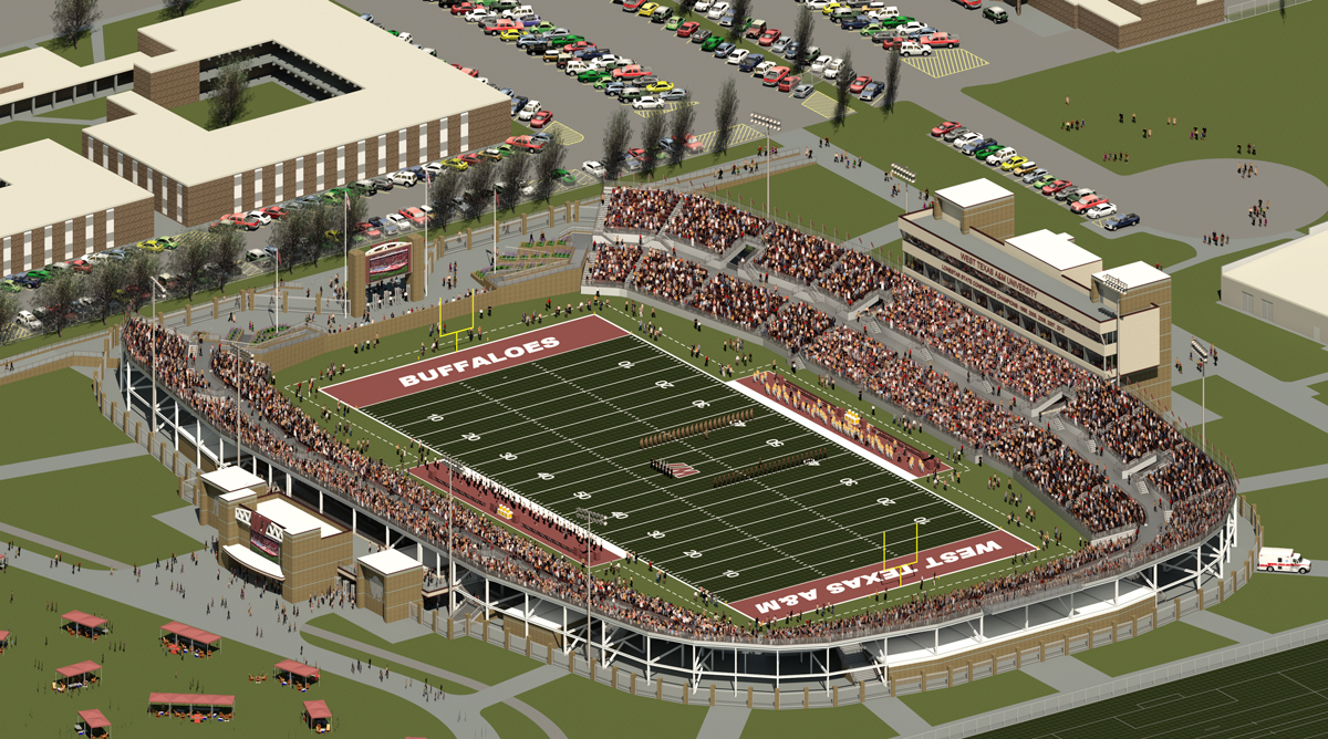 Artist rendering of WTAMU Stadium/Photo by WTAMU