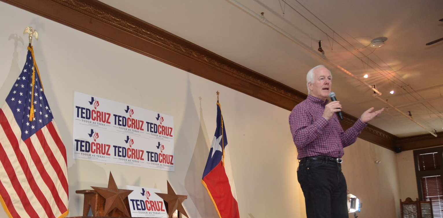Cornyn speaks at a rally/Photo by Cornyn Campaign