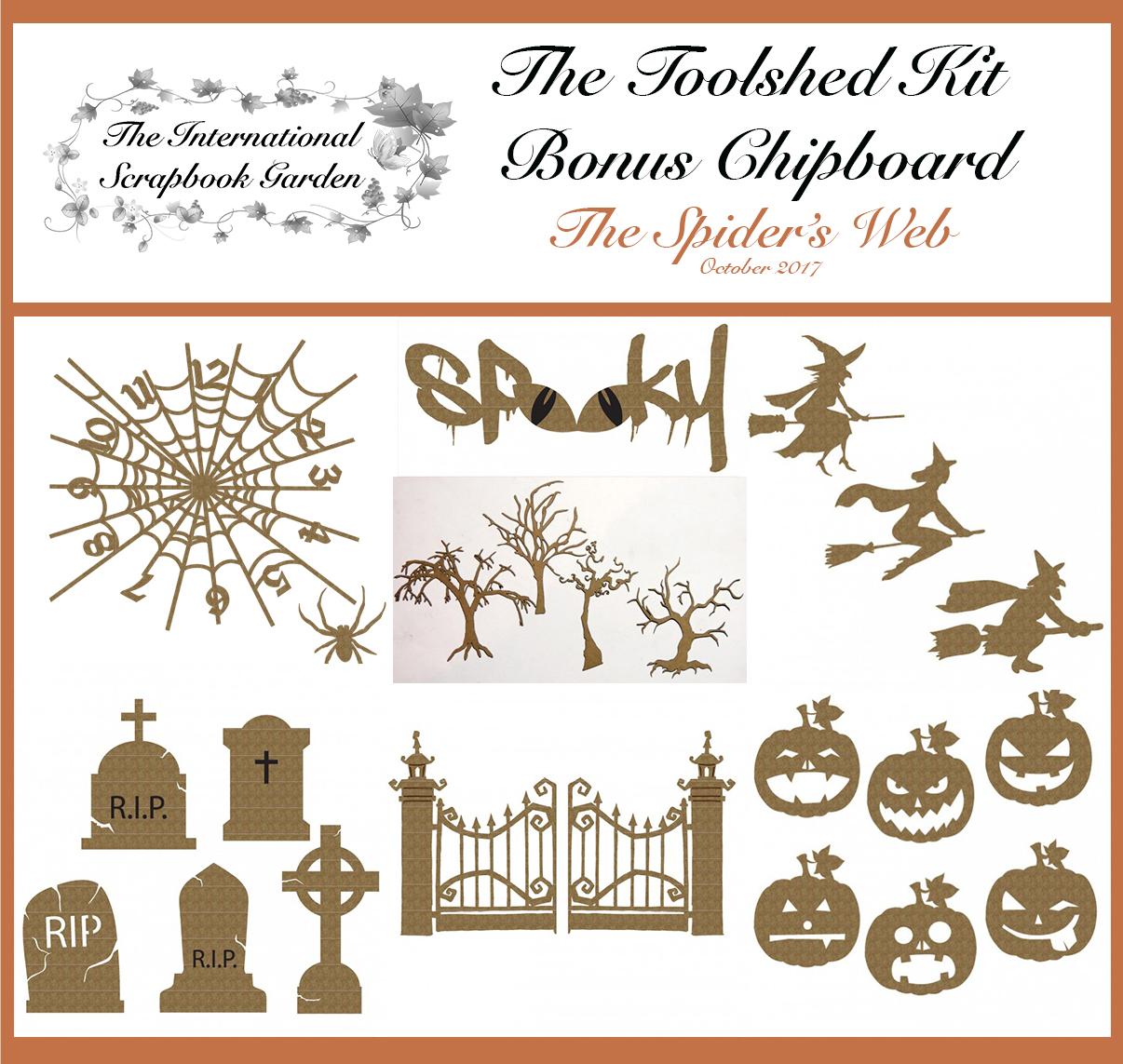 Creative Embellishments Pumpkin Faces Chipboard
