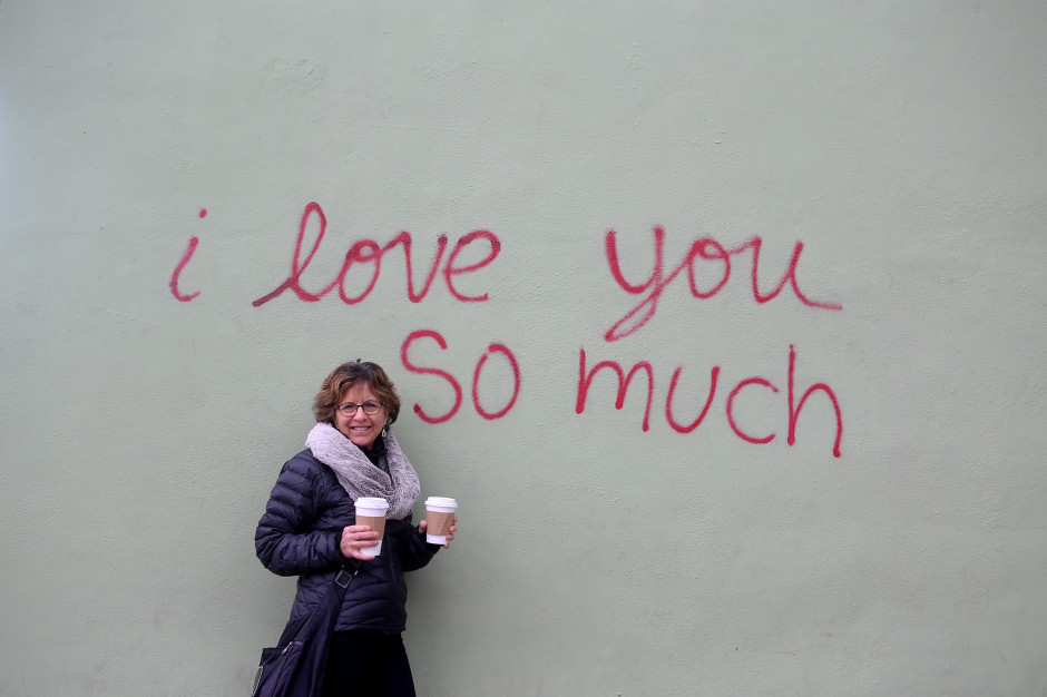 We need more graffiti like this – shocked by the cold at Jo's Coffee in Austin, Texas.