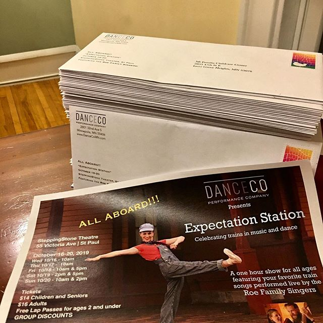 This is just the beginning of what it takes to get the word out...if you love DanceCo or the Roe Family Singers or Engineer Paul, please consider sharing it with your friends! We have group discounts available! Email info@DanceCoMN.com