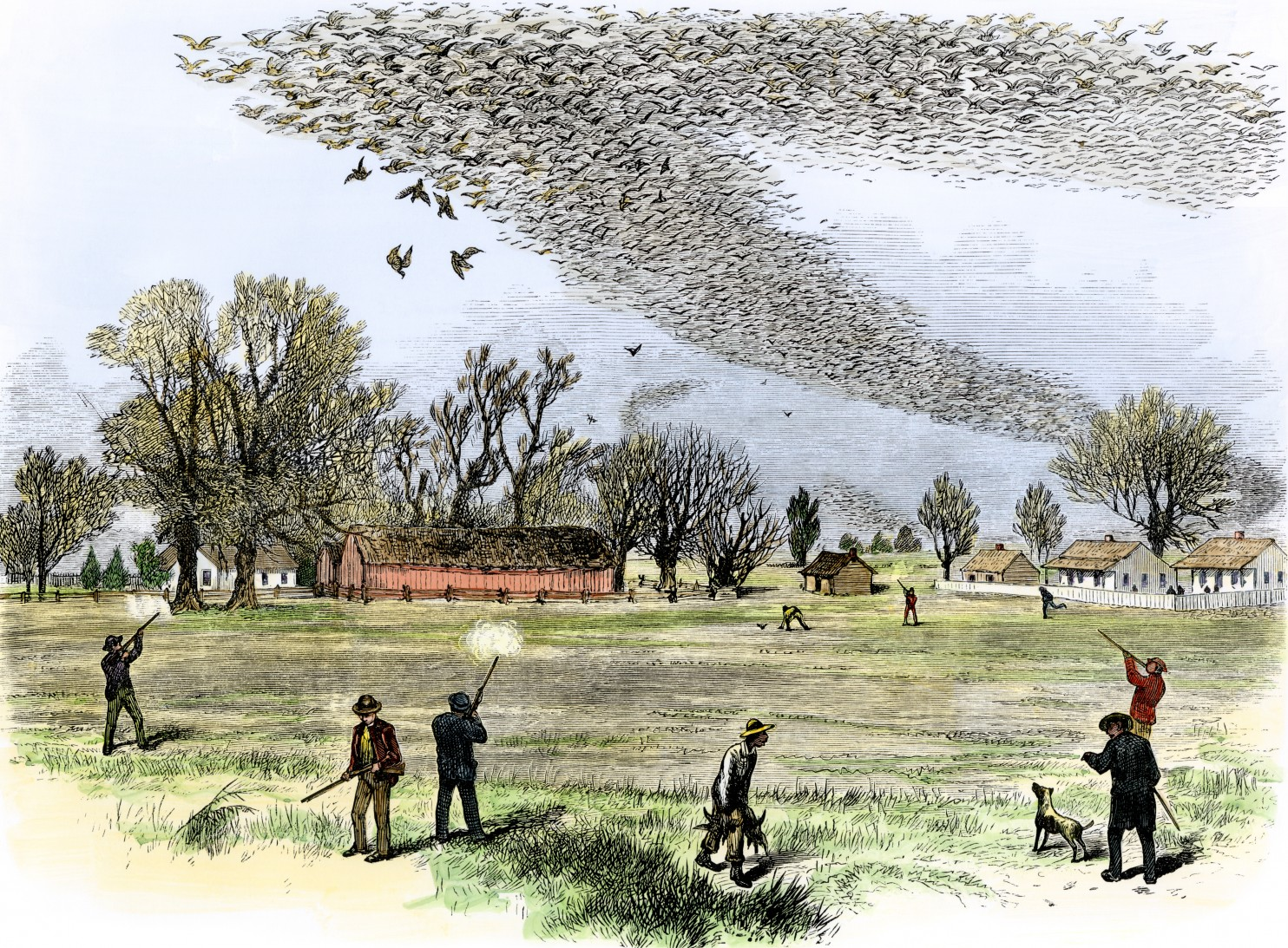 Depiction of a shooting in northern Louisiana, Smith Bennett, 1875