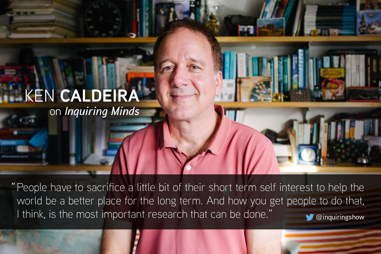 """We asked  @ KenCaldeira   how climate science research funds should be spent. """"Many of my colleagues aren't gonna like what I'm gonna say here…""""  Listen to the full interview here."""