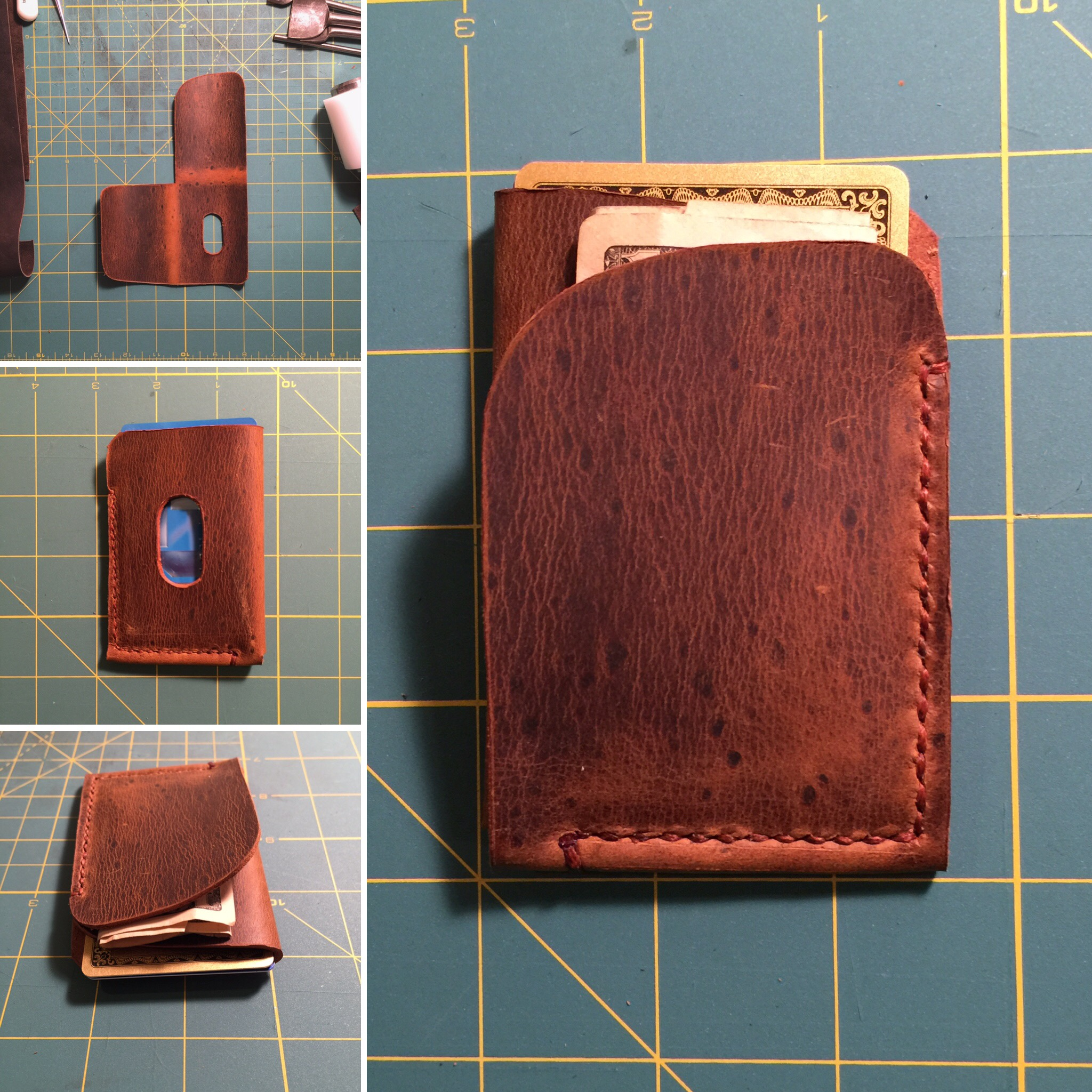 Front pocket cash and card case