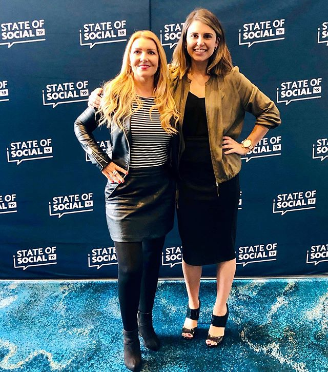 #STATEOFSOCIAL19 // So pumped to hear from all the amazing speakers at @state_of_social today - massive congrats to @megcoffey and the @smperth team for an incredible event. And so happy to bump into this gorgeous human @vivacitymarketing 💛