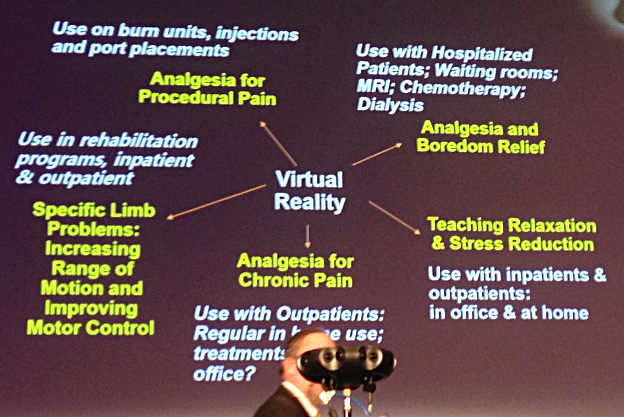 Ted Jones outlining his use of VR -