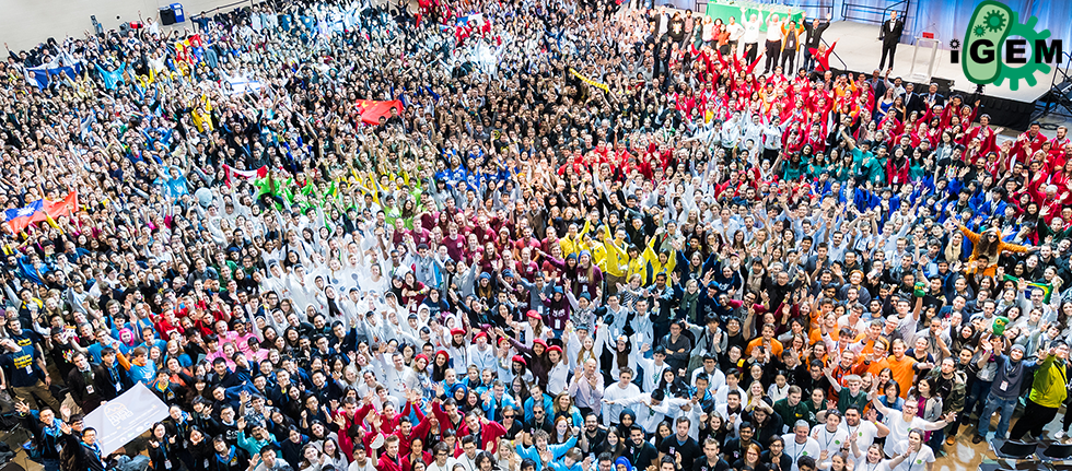 Team members from all over the world at the 2016 iGEM Giant Jamboree