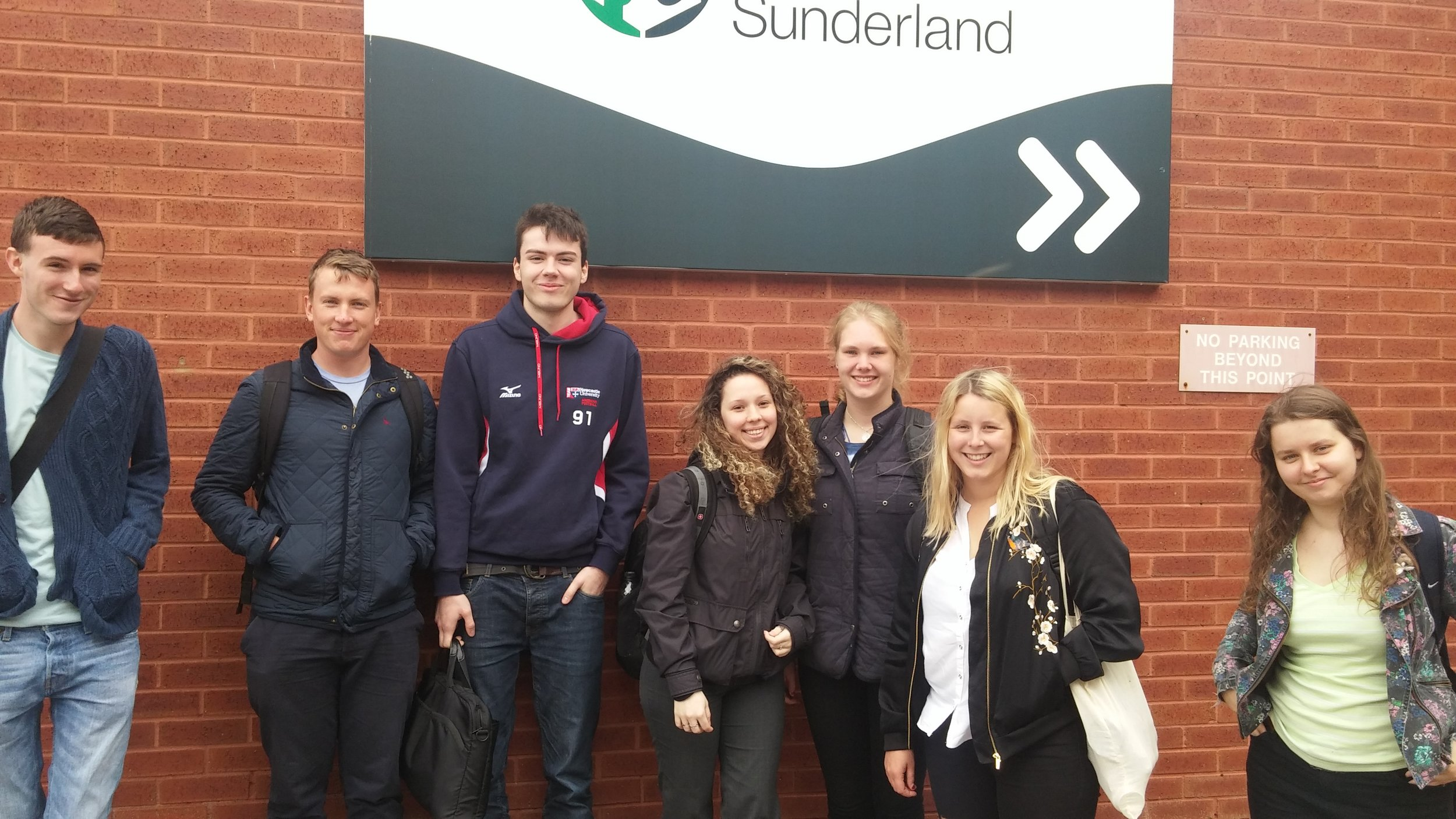 Our team assembled outside FabLab, Sunderland where we learned about 3D design