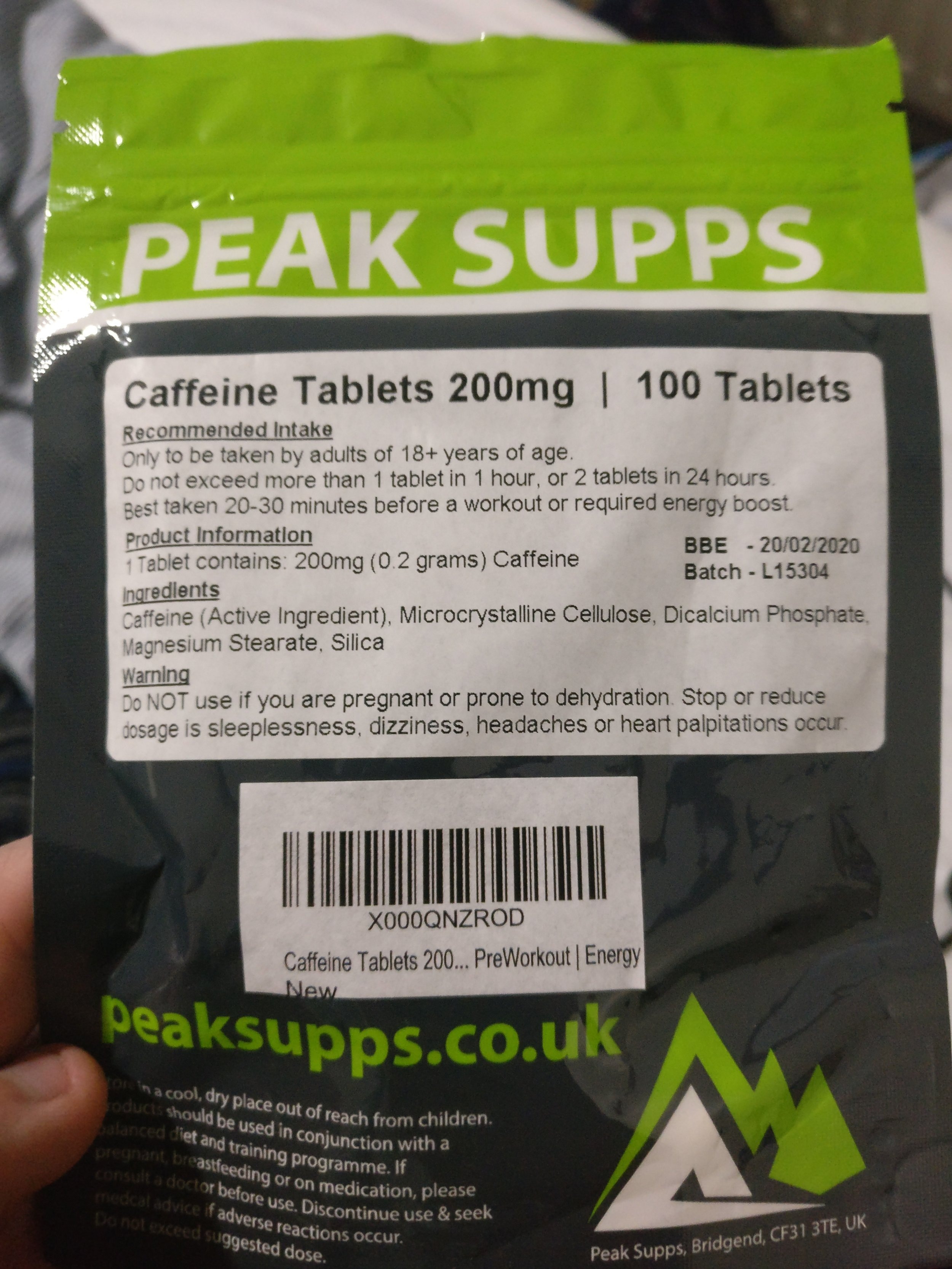 My caffeine tablets arrived today. It begins.