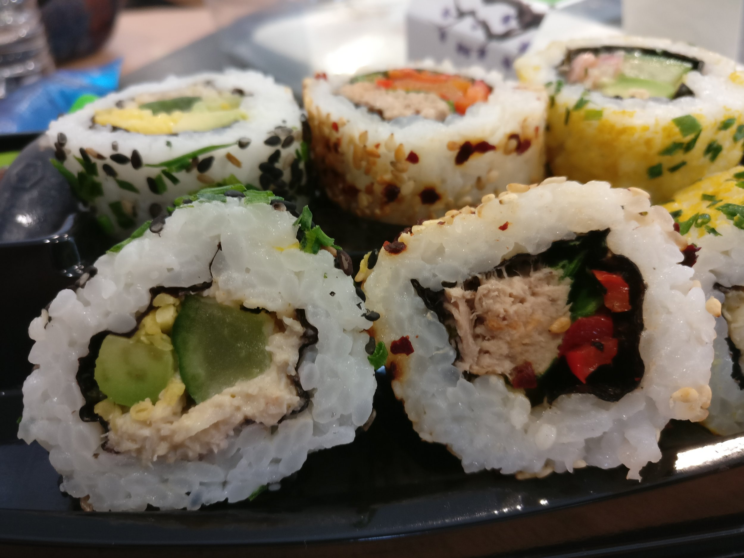 Delicious Marks & Spencer sushi