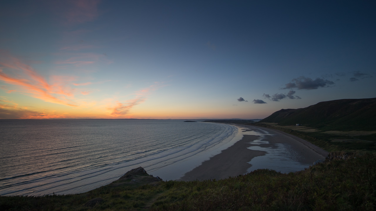 Rhossili Beach After Sunset