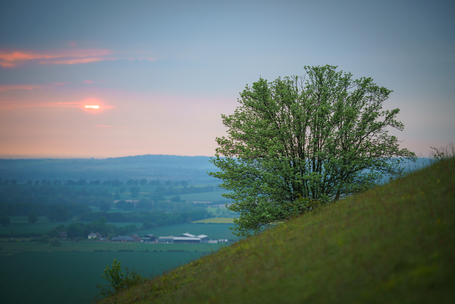 Sunset view from Aston Rowant