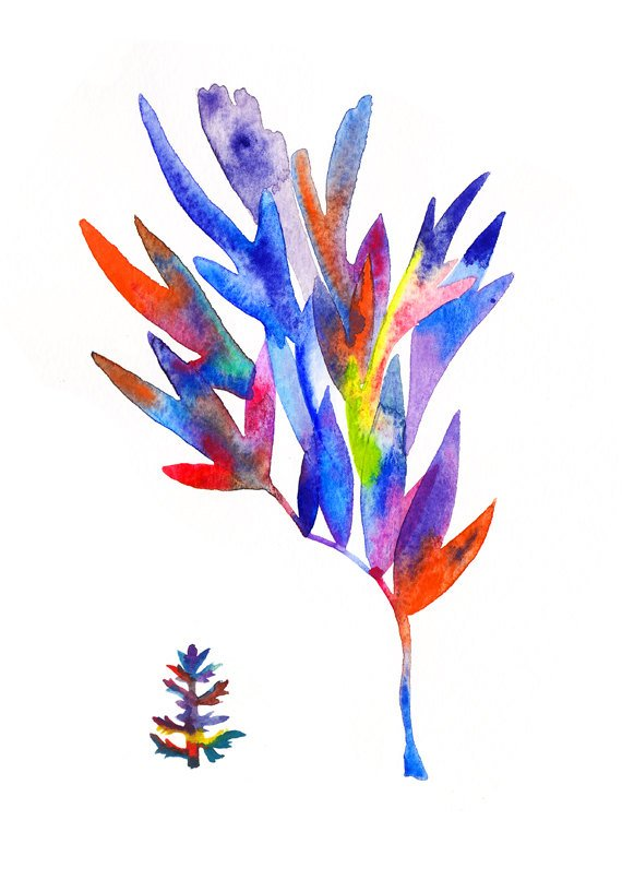 """""""Seaweed"""" Watercolour on Paper, 2013.  Available as an Archival Print here."""