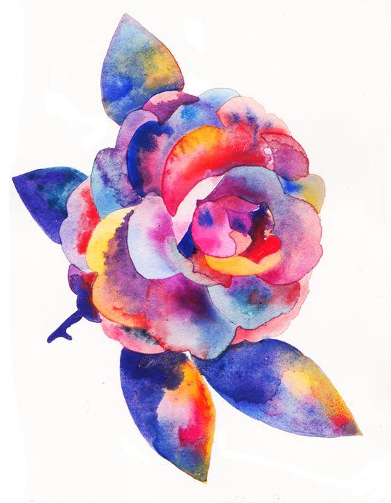 """Camellia""Watercolour on Paper, 2013"