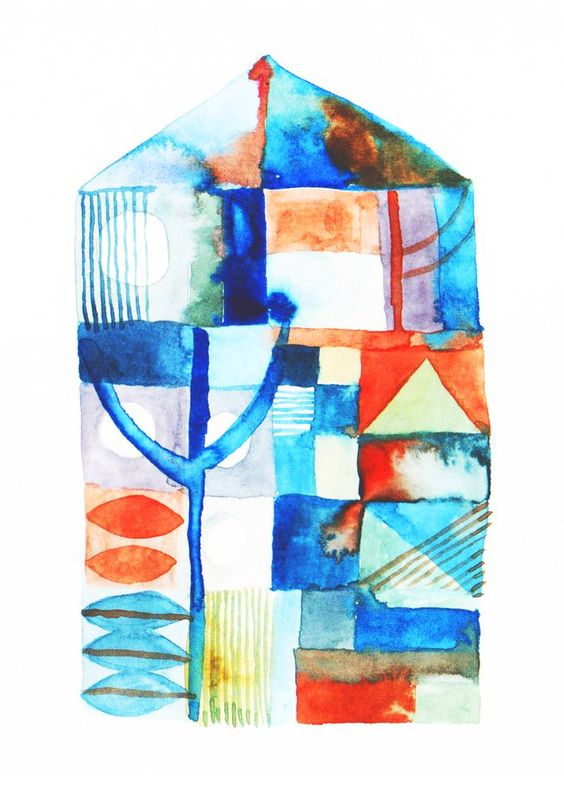 """""""Naoshima House""""Watercolour on Paper, 2017. Available as an Archival Print here."""