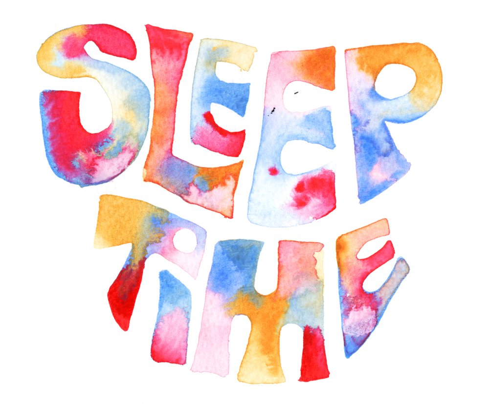 """""""Sleep Time"""",Watercolour on Paper, 2017. Available as an Archival Print here."""