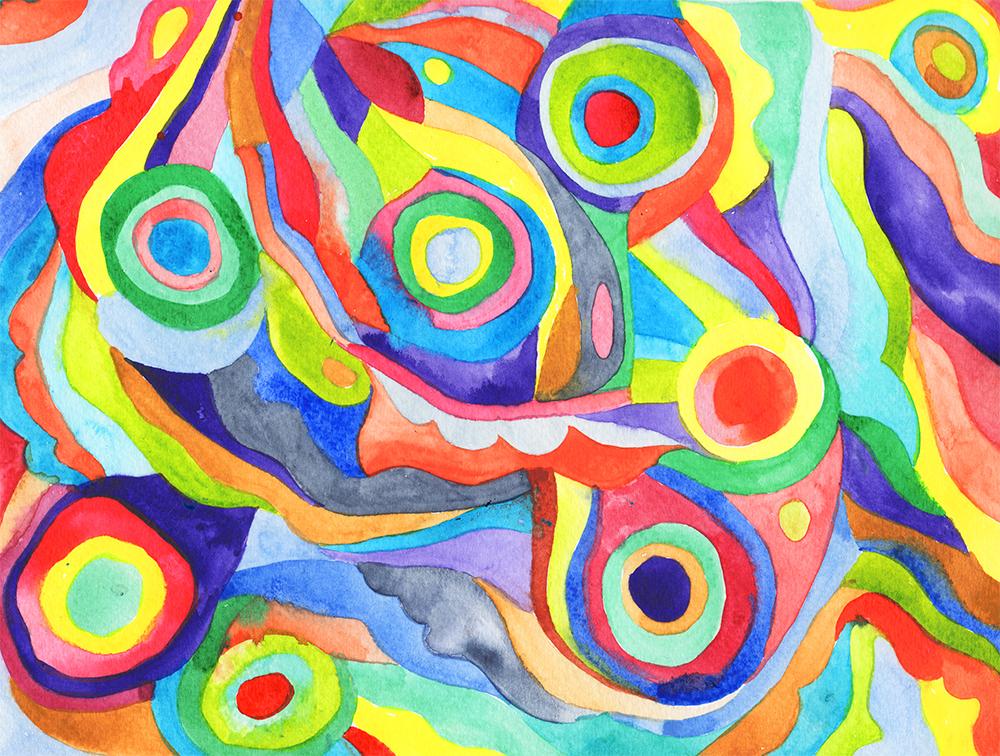 """Moth Pattern""Watercolour on Paper, 2017"