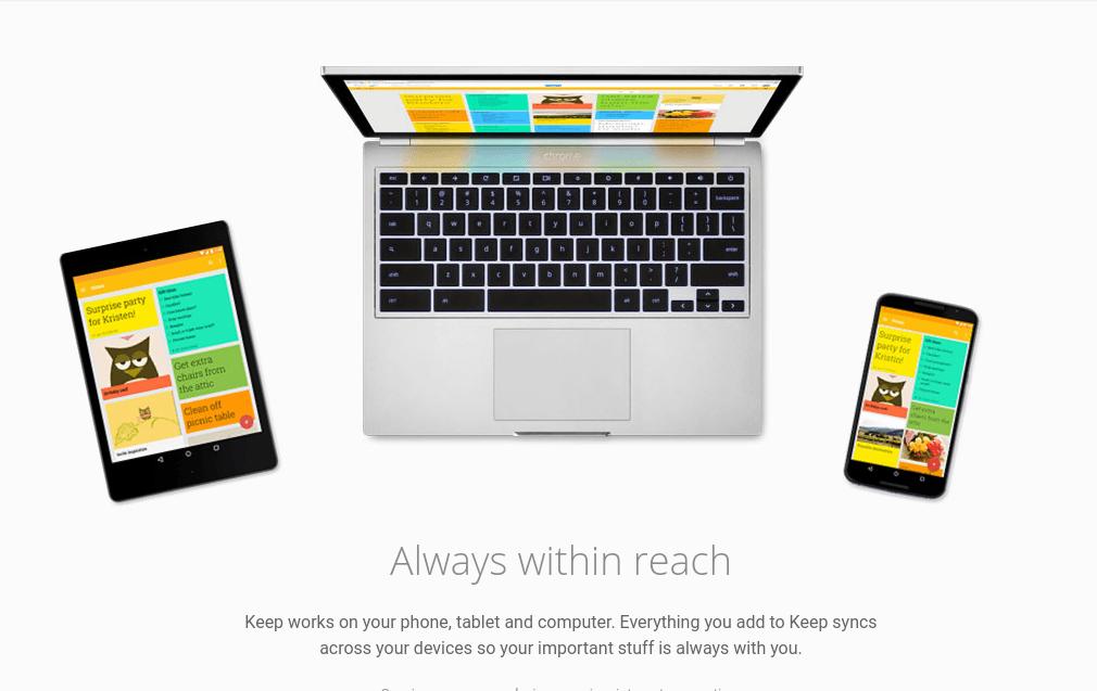 Google Keep note taking app