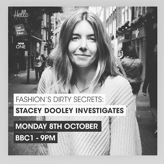 Did you catch @sjdooley on @bbcone this week uncovering fashion's dirty secrets? Featuring influencers like @susiebubble and interviews with the UK public demonstrating that we have a long way to go with consumer education around the social and environmental impact of the fashion industry. Great to see this issue explored on prime time television! 👏🏼 #sustainablefashion #ethicalfashion #dofashionbetter