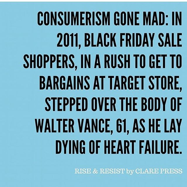 Too important not to share via @mrspress. On the eve of Black Friday let's think about the relationship we really want to have with fashion. Let's make it a positive one that supports people and the planet instead of hurts them. #blackfriday #fastfashion #dofashionbetter