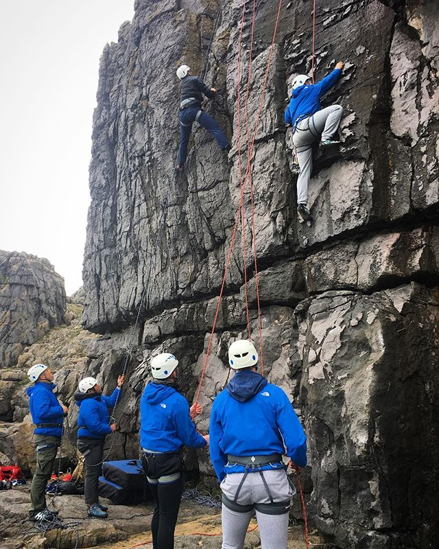 Damp at Newton Head for day one of a week of rock climbing skills and learning. #damp #rockclimbing #pembrokeshire #army @ami_professionals
