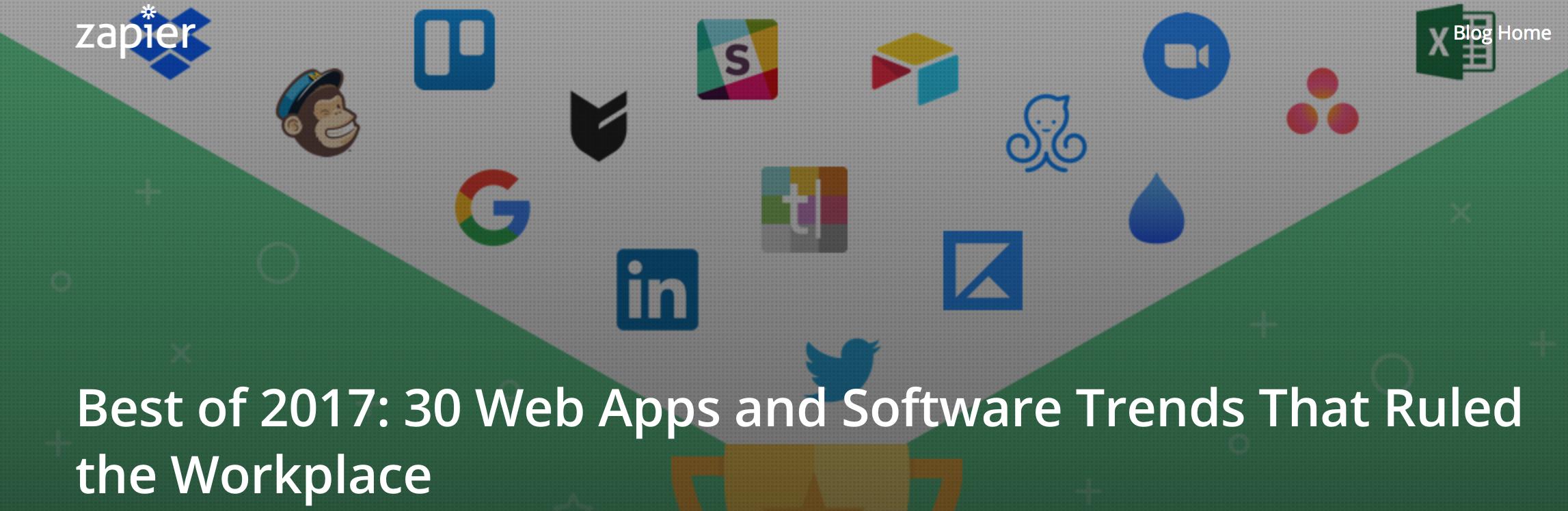 Best of 2017, 30 Web Apps