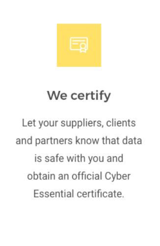 We Certify