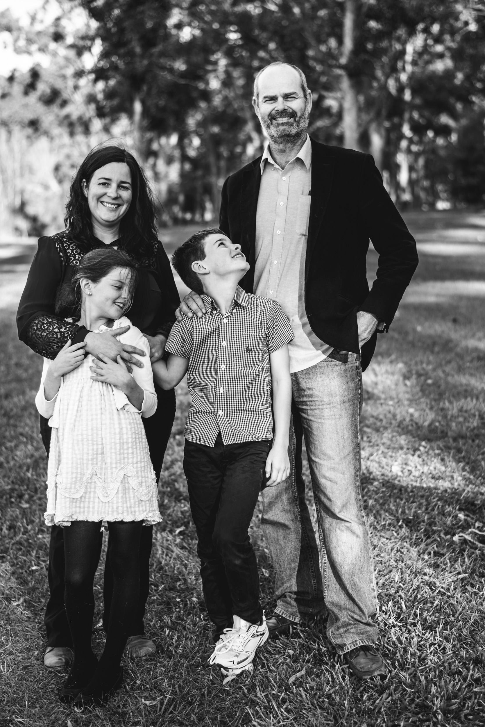 outdoor family photograph in Brisbane